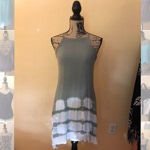 Francesca's Moss & White Midi Dress